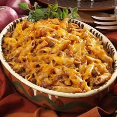 Mostaccioli Casserole Recipe via Taste of Home