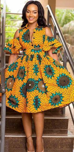 Yellow orange green african wax print fabric by the yard /African Print dress African skirt Ankara fabric floral african fabric by the yard Africanstylesforladies African Fashion Ankara, Latest African Fashion Dresses, African Dresses For Women, African Print Fashion, African Attire, African Wear, African Women, Africa Fashion, Tribal Fashion