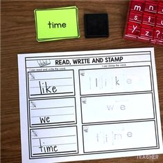 Sight word activity - read, write and stamp sight words Teaching Sight Words, Sight Words List, First Grade Sight Words, Sight Word Games, Sight Word Activities, Second Grade, Reading Task Cards, Phonics Reading, Phonics Games