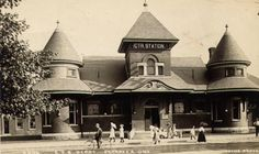 Petrolia Library & former Grand Trunk Railway Station. 'Come visit us. You'll be surprised! Anglican Church, Train Stations, Ends Of The Earth, Exterior Design, Offices, Ontario, Trains, Canada, River
