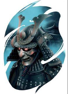 Tattoo Japanese Style, Traditional Japanese Tattoos, Japanese Tattoo Designs, Eagle Head Tattoo, Big Cat Tattoo, Samurai Warrior Tattoo, Samurai Art, All Seeing Eye Tattoo, Hannya Tattoo