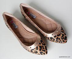 Animal Print - onça Quando se trata de sapatos, eu prezo por conforto, beleza e qualidade, a sapatilha além de linda é extremamente confortável... Santinelli Calçados #inlove