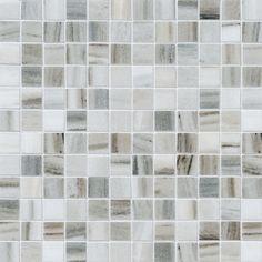 Marble mosaic backsplash tile - I like the grays and hints of beige