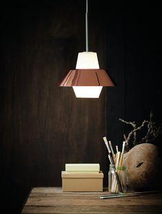 herstal retro puerto pendel kobber battery lamp ferruccio laviani monday