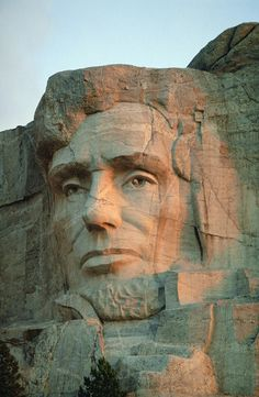 Abraham Lincoln's Face On Mount Rushmore...still considered one of the greatest presidents ever!
