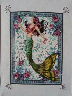 Midnight Lugana Mermaid by Nora Corbett