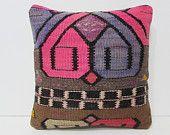kilim pillow dowry ethnic cushion kilim rug pillow rustic bedroom bohemian cushion bed pillow sham turkish pillow case handmade pillow 26636