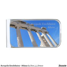 Acropolis Erechtheion - Athens Silver Finish Money Clip