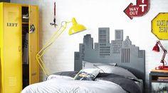 Enfin une chambre d'ado de Ouf ! Par exemple avec cette tête de lit Maisons du Monde.