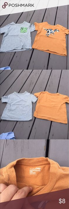 2 Baby Gap T-shirts These are super soft and cute. The pumpkin colored one has a tiny spot on the back as pictured in last photo. Smoke-free owner/home. Save 15% with bundles of 2 or more items. Baby Gap Shirts & Tops Tees - Short Sleeve