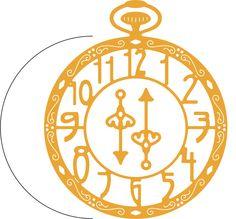 Pocket Watch w/Angel Wing (Steampunk Series) - B362 - Cheery Lynn Designs