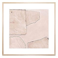 Evoke edgy, modern style in your space with the stony look of the Rose Quartz Square Framed Print from United Interiors.