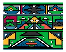 ndebele art for kids African House, South African Art, African Theme, Pattern Art, Art Patterns, Design Patterns, Africa Art, African Design, Elementary Art