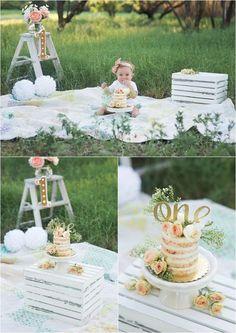 Outside girl Floral Cake Smash - Shannon Lee Photography » Blog