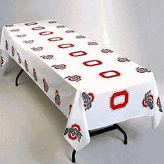 The Ohio State University Buckeyes Plastic Tablecloth