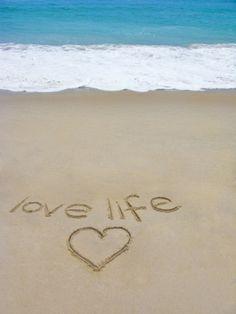 Beach on Fire Island, Ny with the Words 'Love Life' Written in the Sand Photographic Print by Marie Hickman at Art. Fire Island Ny, Long Island, Mahalo Hawaii, I Need Vitamin Sea, Concours Photo, I Love The Beach, Beach Fun, Sand Beach, Romantic Beach