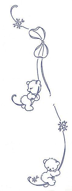 teddy bears hanging on a ribbon by K0dama, via Flickr