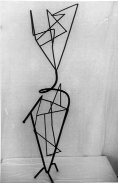 Martín Chirino  COMPOSITION. HOMAGE TO MIRÓ   1953      Wrought iron, glass and welded rods 138x40x41 cm