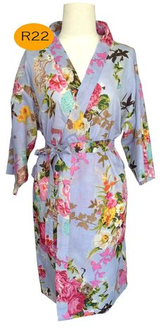 dab033fa59 For the lovely Bride Kimono robe bridesmaids tiffany light Beige and blooms  maid of honor spa