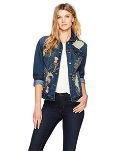 """Bandolino Sarah denim jacket sits at the waist and has a modern slim look. Great with any outfit even a dress       Famous Words of Inspiration...""""Only those who will risk going too far can possibly find out how far one can go.""""   T.S....  More details at https://jackets-lovers.bestselleroutlets.com/ladies-coats-jackets-vests/denim-jackets/product-review-for-bandolino-womens-sarah-denim-jacket/"""