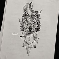 wolf geometric tattoo - Pesquisa Google