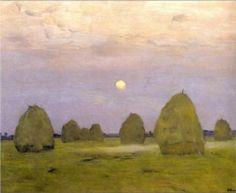 Twilight. Stacks - Isaac Levitan, 1899, The Tretyakov Gallery, Moscow, Russia