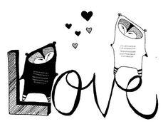 Love, illustration by ElizabethPawle, found at Etsy.com