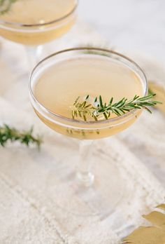 Fig + Rosemary Tini via A House in the Hills