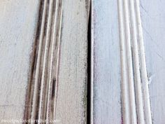 Sweet Pickins Milk Paint - Dark Wax TutorialAlso notice how the dark wax shows up in those lines? And how it highlights all that crackly goodness that happens with milk paint? That why i love milk paint and thats why i want to dark wax everything! Annie Sloan Chalk Paint Tutorial, Chalk Paint Wax, Chalk Paint Colors, Chalk Paint Projects, White Chalk Paint, Milk Paint, Craft Projects, Waxing Painted Furniture, Furniture Wax