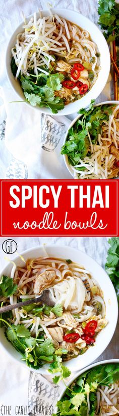 Spicy Thai Noodle Bowls