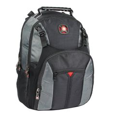 SwissGear The SHERPA Laptop Notebook Computer Backpack - Red/Black