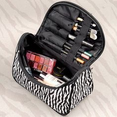Necessarie Beautician Vanity Necessaire Trip Beauty Women Travel Toiletry Make Up Makeup Case Cosmetic Bag Organizer Box Pouch Cosmetic & Toiletry Bags, Travel Cosmetic Bags, Cosmetic Case, Toiletry Storage, Cosmetic Storage, Box Storage, Organizer Box, Make Up Organizer, Handbag Organizer