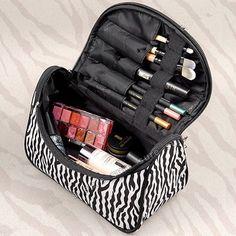 Necessarie Beautician Vanity Necessaire Trip Beauty Women Travel Toiletry Make Up Makeup Case Cosmetic Bag Organizer Box Pouch Bags Travel, Travel Handbags, Travel Cosmetic Bags, Cosmetic Pouch, Organizer Box, Make Up Organizer, Handbag Organizer, Handbag Storage, Organizers