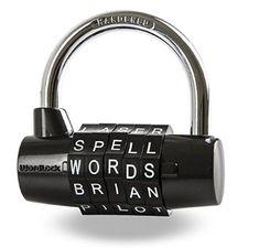 Wordlock PL-004-BK 5-Dial Combination Padlock