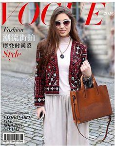 JeHouze Women's Genuine Leather Top Handle Purse Crossbody Handbag (Brown): Handbags: Amazon.com