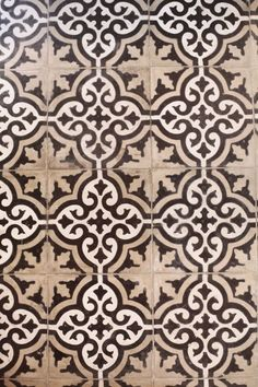 Moroccan Tile, Cream and Tan and Black pattern tile