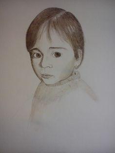 Retrato con tinta y plumilla