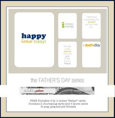 Freebie: Father's Day Printable cards | Smitha Katti - smilingcolors.com