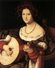 Solari Andrea Suonatrice di liuto, c. 1510