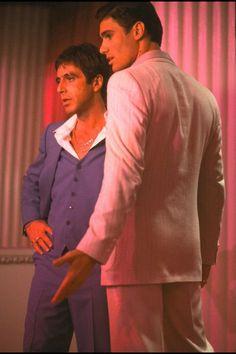 Scarface: Al Pacino (Tony Montana) and Steven Bauer (Manolo Ribera)