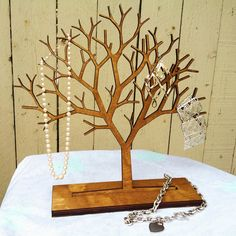 19 Trendy Ideas For Jewerly Organizer Tree Etsy Tree Jewelry Holder, Jewelry Tree, Jewelry Stand, Jewellery Holder, Jewelry Rings, Laser Art, Laser Cut Wood, Laser Cutting, Tienda Fashion