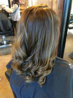 Subtle Balayage Highlight. Caramel Chocolate hair. Beauty By Allison. Fort Collins Hair. Salon Salon