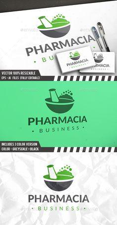 Pharmacy Labs Logo Template PSD, Vector EPS, AI Illustrator. Download here: https://graphicriver.net/item/pharmacy-labs-logo/17587088?ref=ksioks