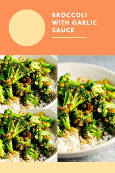 Broccoli Ideas, Easy Broccoli Recipes, How To Make Broccoli, Broccoli Dishes, Broccoli Soup, Garlic Recipes, Chicken Recipes, Broccoli With Garlic Sauce, Broccoli Chicken