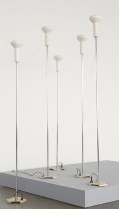 PHILLIPS : NY050306, Gino Sarfatti, Five floor lamps, model no. 1073