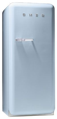 @Tessa Menotte So you know how I always want a retro fridge but in the long run they are small for a family. I was thinking about buying one of these as a fridge and a separate freezer and some how designing a home to put them next to each other.