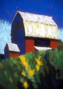 Red Barn with Ramp.  Casey Klahn.