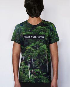 Pray for Paris forest t-shirt (all over print) | Pray For Paris