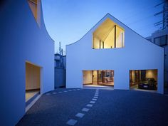 """A House Made of Two by naf architect & design """"Location: Kanagawa, Japan"""" 2009"""