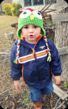 Custom Crochet Owl Hat/Photography Prop $15.50  https://www.etsy.com/listing/115141813/custom-crochet-awake-owl-hat-photography